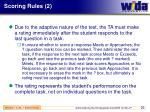 scoring rules 2