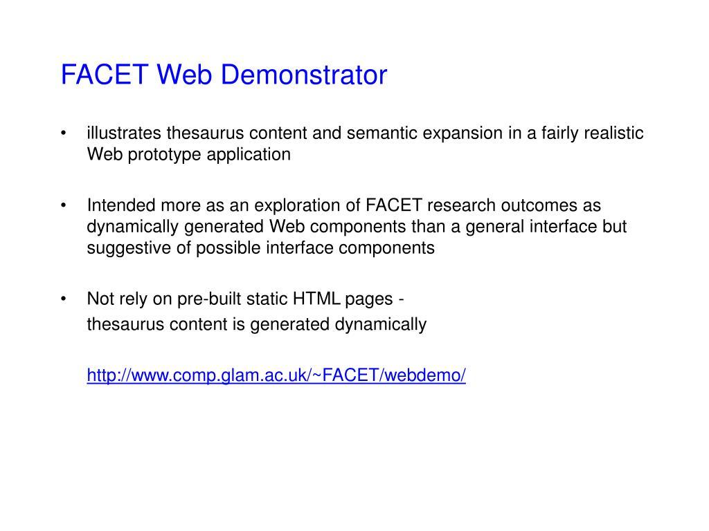 FACET Web Demonstrator
