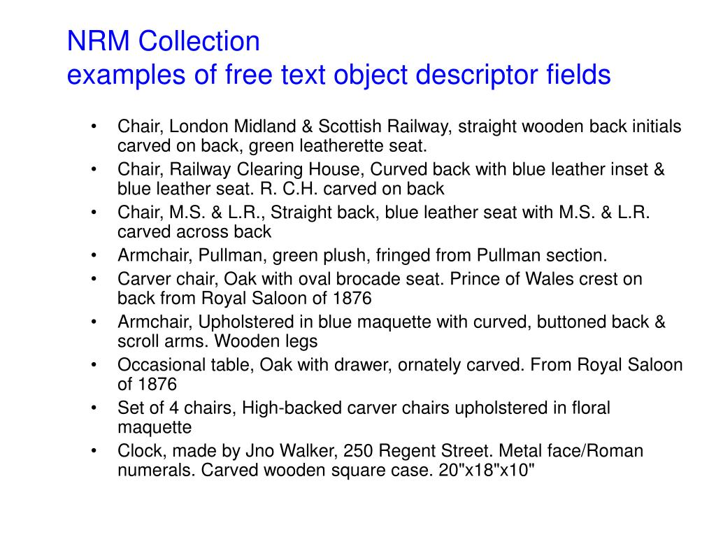 NRM Collection