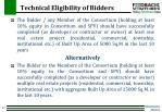 technical eligibility of bidders