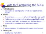 aids for completing the sdlc