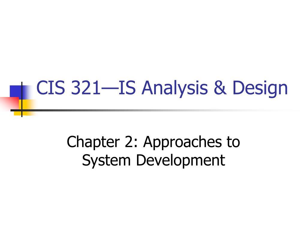 cis 321 is analysis design l.