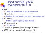 object oriented system development oosd