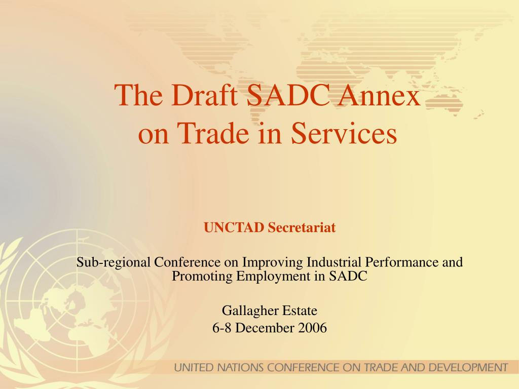 the draft sadc annex on trade in services l.