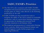 sadc fanr s priorities