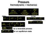 pressure thermodynamic mechanical