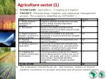agriculture sector 1