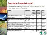 case study tanzania cont d26