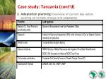 case study tanzania cont d27