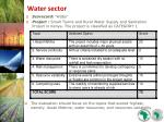 water sector