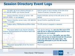 session directory event logs