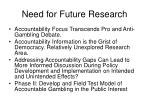 need for future research