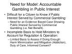 need for model accountable gambling in public interest