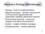 alternative strategy methodologies29