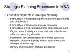 strategic planning processes in m a26
