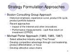 strategy formulation approaches