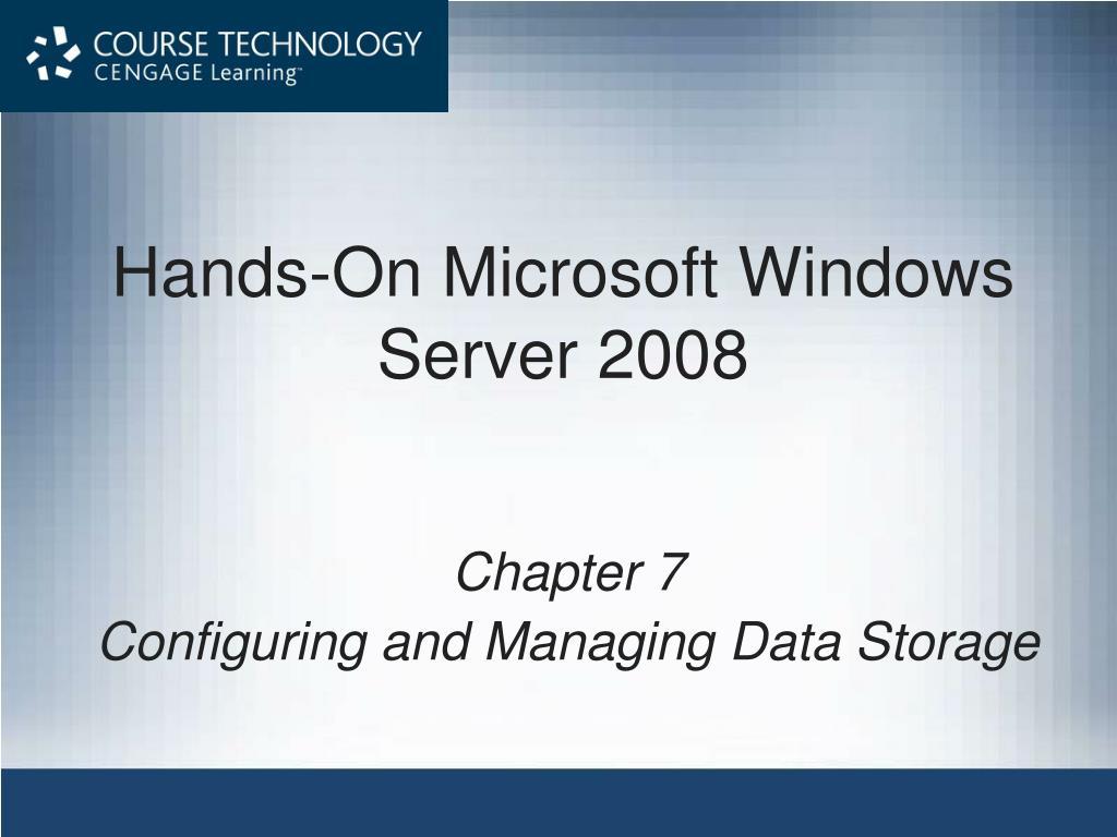 hands on microsoft windows server 2008 l.