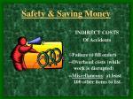 safety saving money10