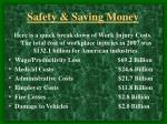 safety saving money11