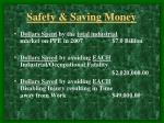 safety saving money12