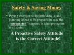 safety saving money5