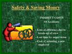 safety saving money8