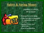 safety saving money9