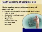 health concerns of computer use49