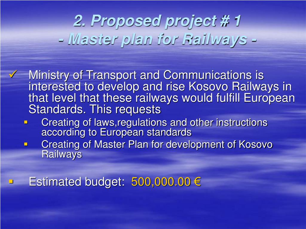 2. Proposed project # 1