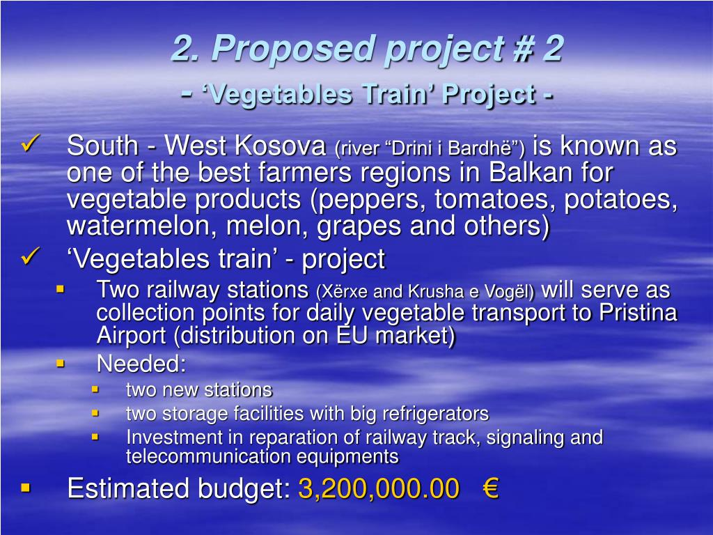 2. Proposed project # 2