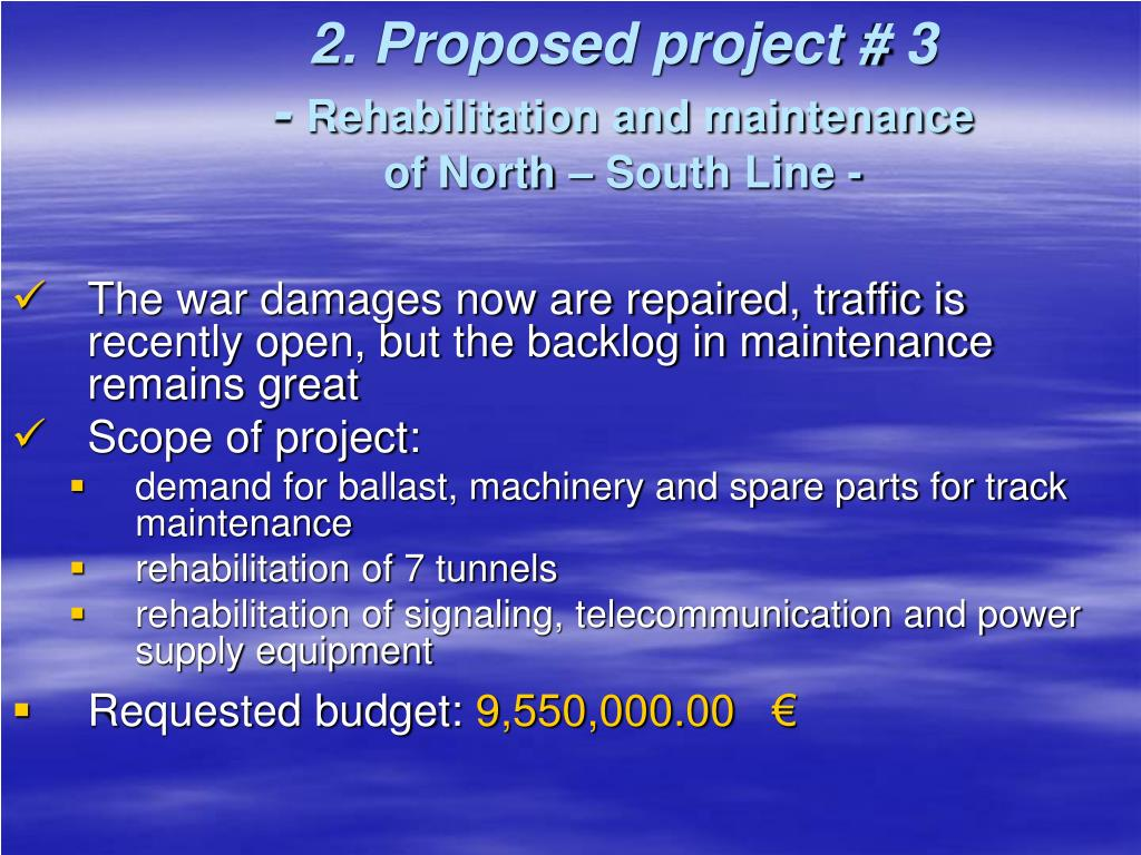 2. Proposed project # 3