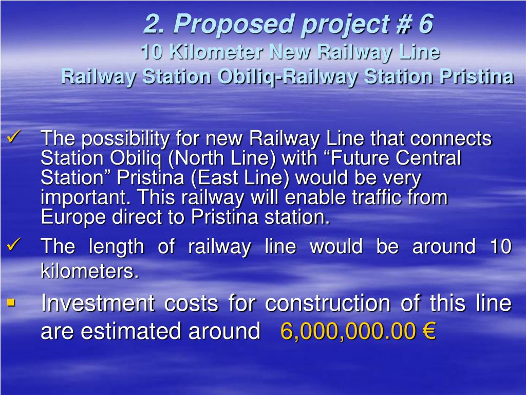 2. Proposed project # 6