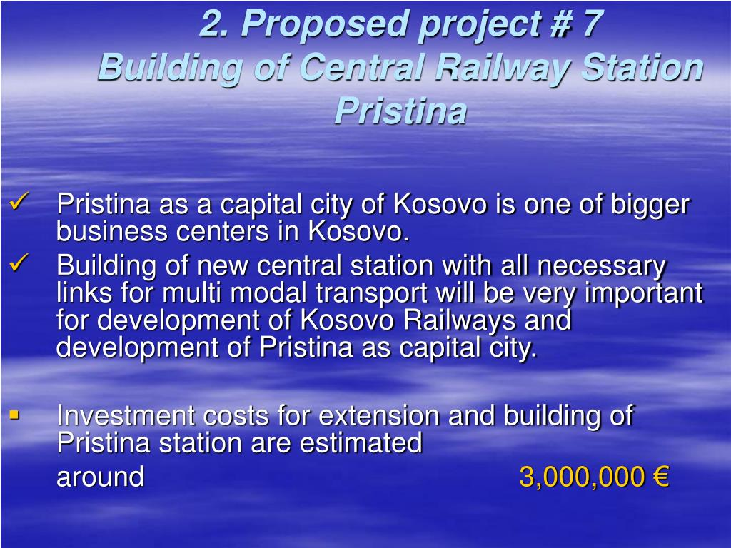 2. Proposed project # 7