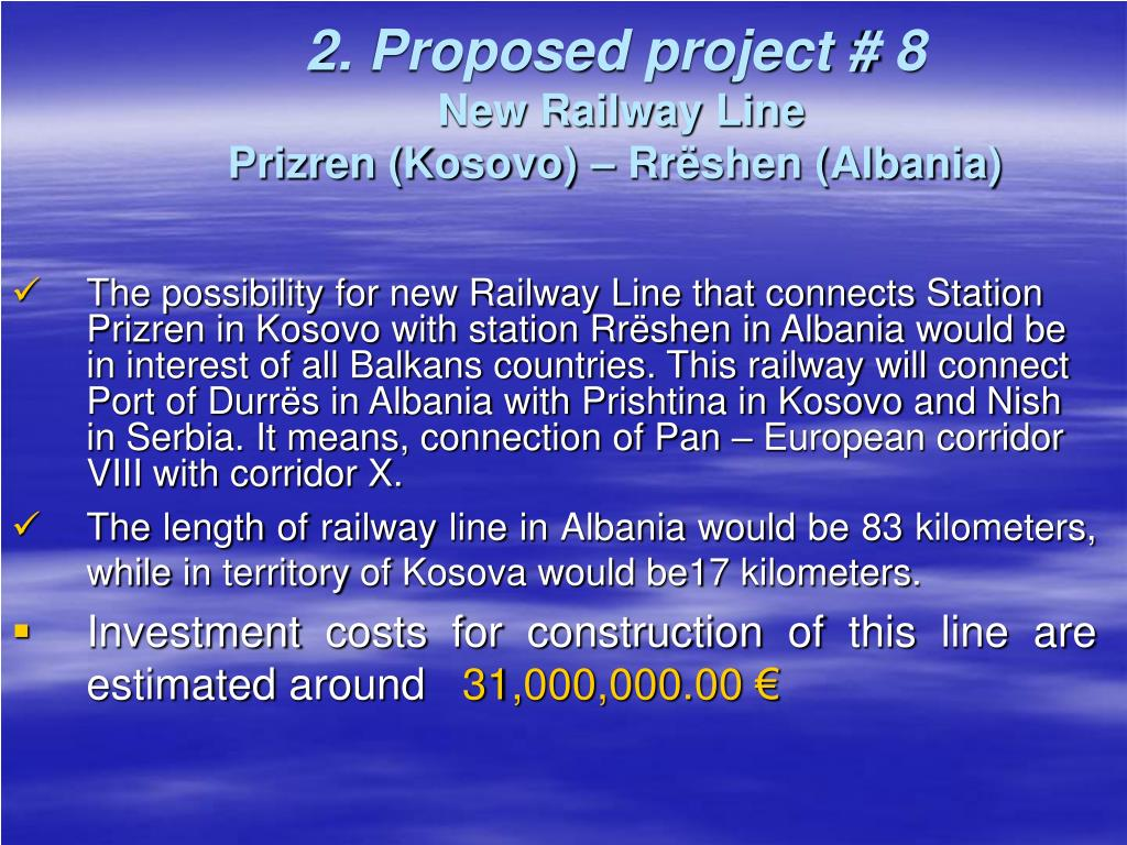 2. Proposed project # 8