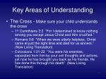 key areas of understanding10