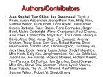 authors contributors