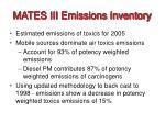 mates iii emissions inventory