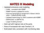 mates iii modeling