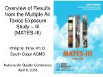 overview of results from the multiple air toxics exposure study iii mates iii
