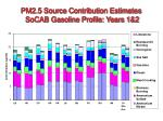 pm2 5 source contribution estimates socab gasoline profile years 1 2
