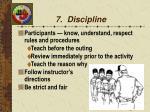 7 discipline