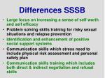 differences sssb
