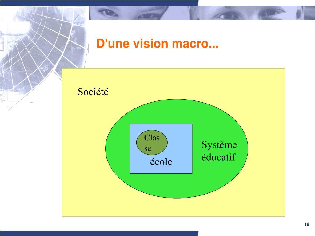 D'une vision macro...