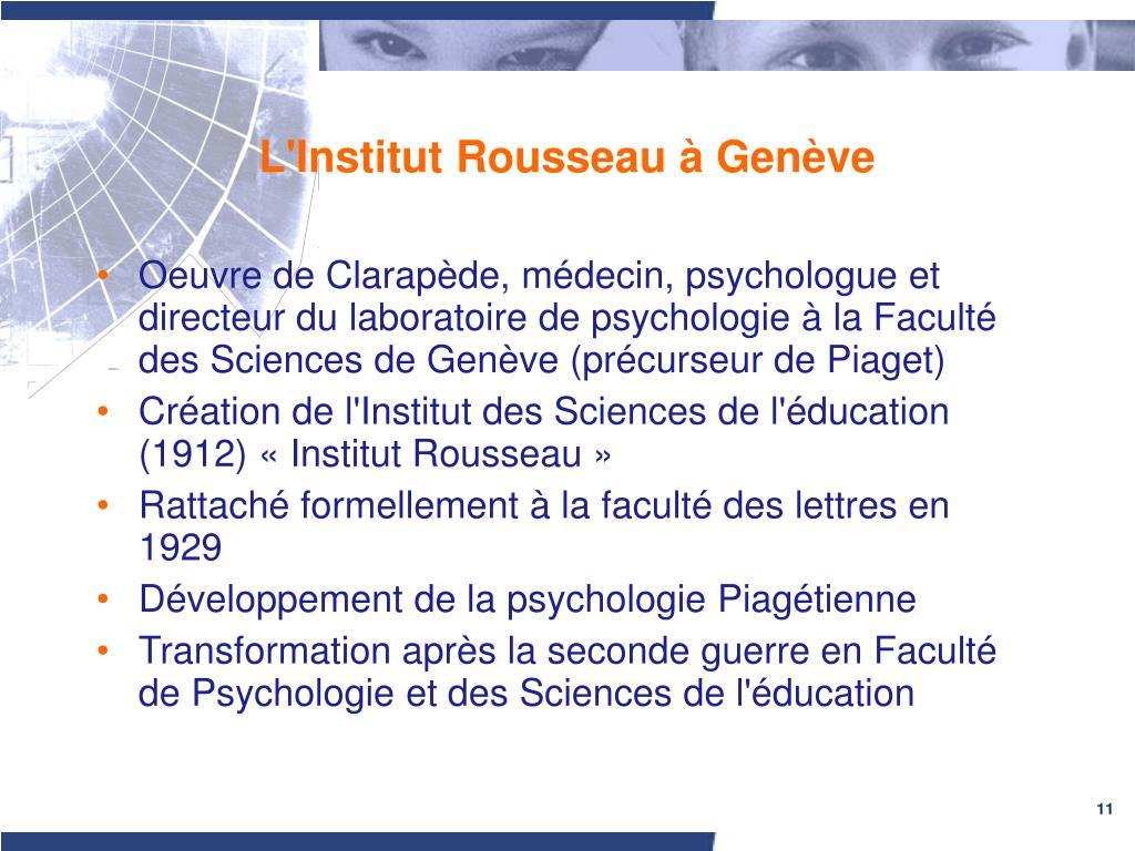 L'Institut Rousseau à Genève