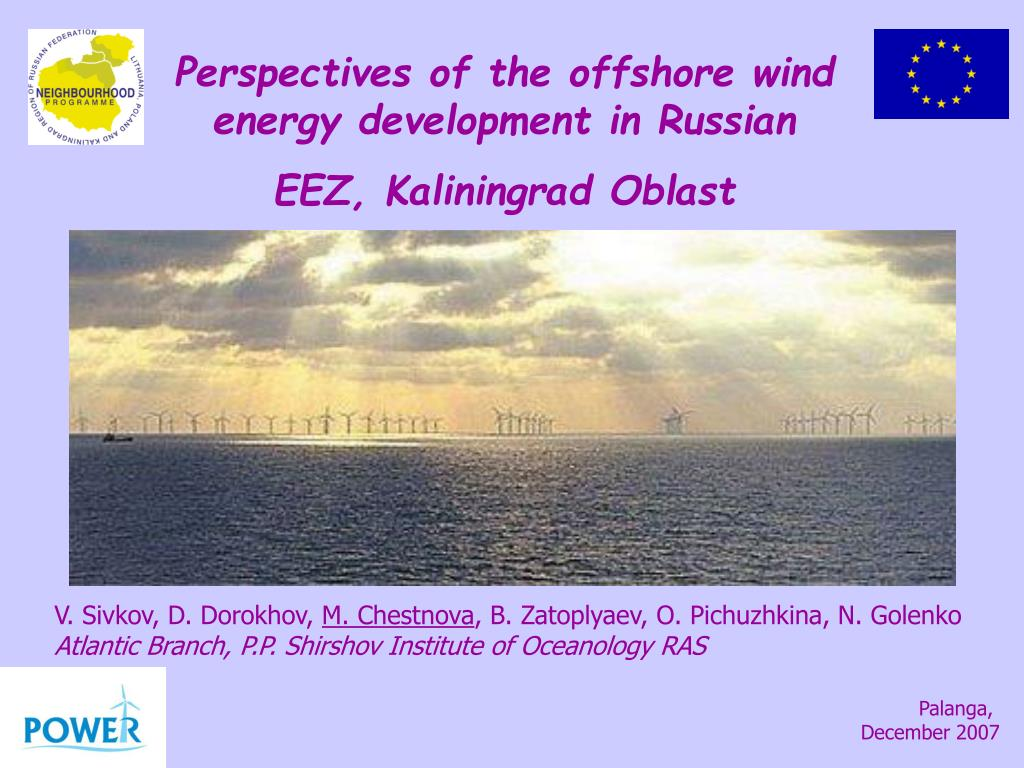 Perspectives of the offshore wind energy development in Russian EEZ, Kaliningrad Oblast