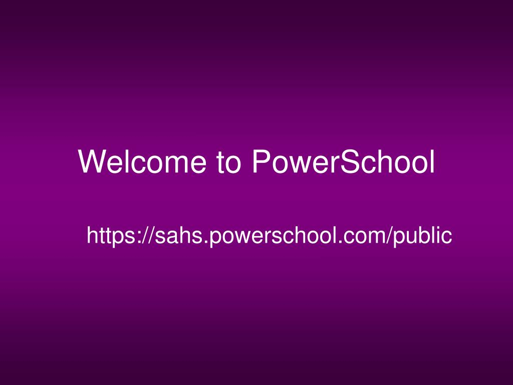 welcome to powerschool l.
