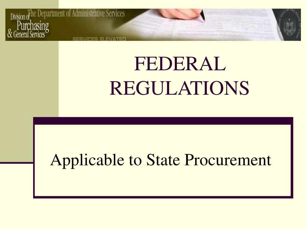 federal regulations l.