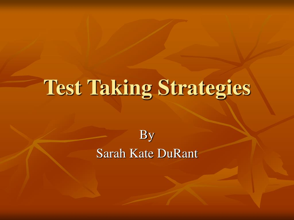 test taking strategies l.