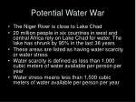potential water war