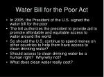 water bill for the poor act